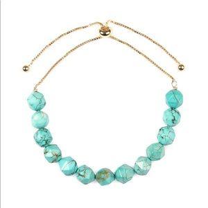 Turquoise natural gem stone bracelet